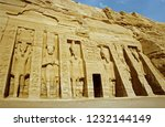 the temple at abu simbel  ... | Shutterstock . vector #1232144149