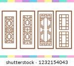 lineart traditional korea...   Shutterstock .eps vector #1232154043