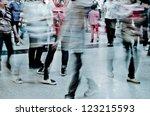 city business people crowd... | Shutterstock . vector #123215593