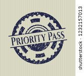 blue priority pass rubber seal... | Shutterstock .eps vector #1232157013