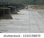 concrete floor and bridge  | Shutterstock . vector #1232158870