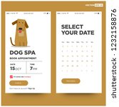 dog spa book appointment app...   Shutterstock .eps vector #1232158876