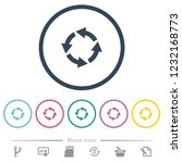 rotate left flat color icons in ... | Shutterstock .eps vector #1232168773