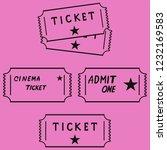 cinema movie ticket isolated | Shutterstock .eps vector #1232169583