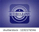 autobiography emblem with jean... | Shutterstock .eps vector #1232176546