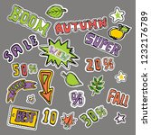 cute embroidery patches and...   Shutterstock .eps vector #1232176789