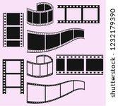 film strip vector silhouette... | Shutterstock .eps vector #1232179390