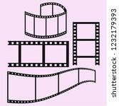film strip vector silhouette... | Shutterstock .eps vector #1232179393