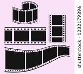 film strip vector silhouette... | Shutterstock .eps vector #1232179396