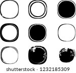 grunge post stamps collection ... | Shutterstock .eps vector #1232185309