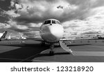 white reactive private jet  the ...   Shutterstock . vector #123218920