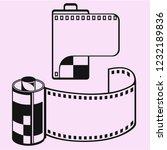 photo film cartridge  camera... | Shutterstock .eps vector #1232189836