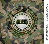 couch icon inside camouflage... | Shutterstock .eps vector #1232190979