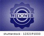 widower badge with denim texture | Shutterstock .eps vector #1232191033