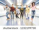 group of friends having fun...   Shutterstock . vector #1232199730