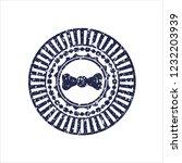 blue bow tie icon inside... | Shutterstock .eps vector #1232203939