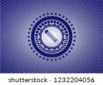 pencil icon inside emblem with... | Shutterstock .eps vector #1232204056