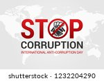 stop corruption and... | Shutterstock .eps vector #1232204290