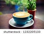 coffee caramel macchiato in... | Shutterstock . vector #1232205133