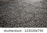 old stone pavement closeup... | Shutterstock . vector #1232206750