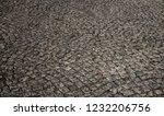 old stone pavement closeup... | Shutterstock . vector #1232206756