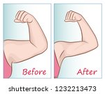 female hand before and after... | Shutterstock .eps vector #1232213473