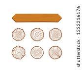 wooden vector planks. wood... | Shutterstock .eps vector #1232216176