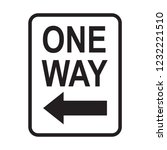 one way sign  traffic sign... | Shutterstock .eps vector #1232221510