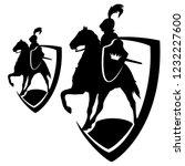 horseback royal knight... | Shutterstock .eps vector #1232227600