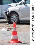 car accident on a crossroads | Shutterstock . vector #1232228803