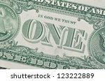 Detail Of One Dollar Bill.