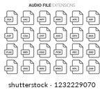 flat style icon set. audio ...