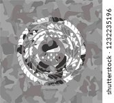 rain icon on grey camo texture | Shutterstock .eps vector #1232235196