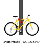 bike lock   security and... | Shutterstock .eps vector #1232235340
