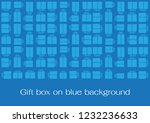 gift box on blue background | Shutterstock .eps vector #1232236633
