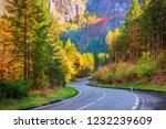 winding road curving through... | Shutterstock . vector #1232239609