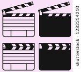 clapper board cinema set vector ... | Shutterstock .eps vector #1232254210