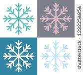 4 snowflake variations  ... | Shutterstock .eps vector #1232256856