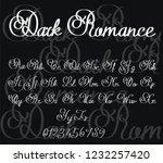 dark romance   gothic font  ... | Shutterstock .eps vector #1232257420
