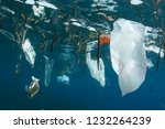 plastic bags and other trash... | Shutterstock . vector #1232264239