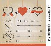 set calligraphic design... | Shutterstock .eps vector #123226759