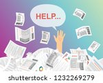 businessman needs help under a... | Shutterstock .eps vector #1232269279