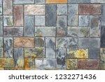 colored slate paving | Shutterstock . vector #1232271436