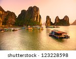 halong bay  vietnam. unesco... | Shutterstock . vector #123228598