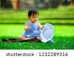 isolated candid portrait of... | Shutterstock . vector #1232289316