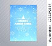 beautiful merry christmas tree... | Shutterstock .eps vector #1232292559