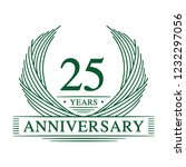 25 years design template. 25th... | Shutterstock .eps vector #1232297056