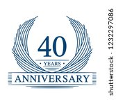 40 years design template. 40th...   Shutterstock .eps vector #1232297086