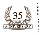 35 years design template. 35th... | Shutterstock .eps vector #1232297110