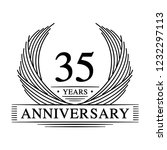 35 years design template. 35th... | Shutterstock .eps vector #1232297113